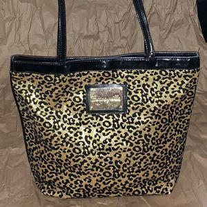 Betseyville Gold Leopard Glitter Tote
